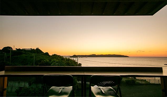 角島宿泊(ホテル)ブエナビスタ別棟mo'blue宿泊施設テラス写真